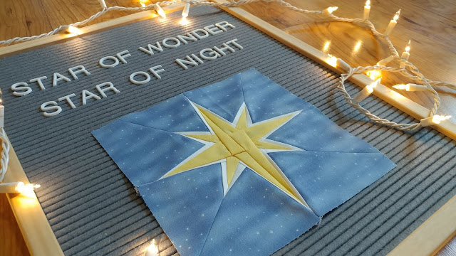 Bethlehem Star paper pieced quilt block
