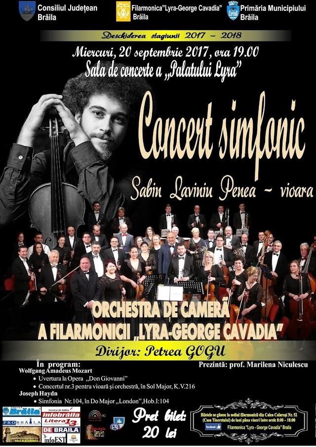 """La """"Lyra"""", Concertul simfonic de deschidere a stagiunii 2017-2018"""