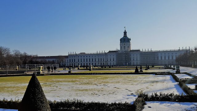 Schloss Charlottenburg and the beautiful gardens covered with snow