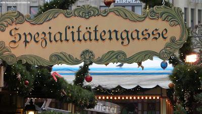 Spezialitätengasse Weihnachtsmarkt Hamburg Rathaus Rathausmarkt