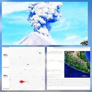 ULTIMA HORA: confirman incremento de la actividad sismica en el volcan de fuego de colima.