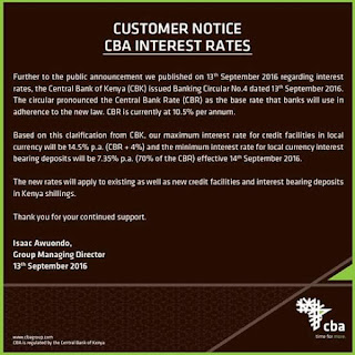 New 14.5% CBA interest rate on loans