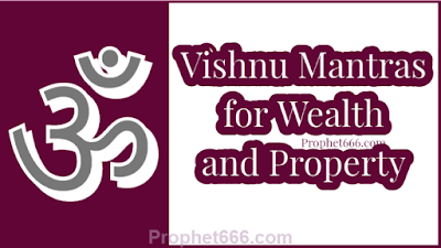 Lord Vishnu Mantras for Wealth and Property and joy and abundance