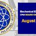 August 2021 Mechanical Engineer, ME, CPM result