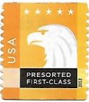 Selo de 2012 Águia Americana, na cor amarela