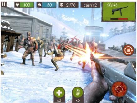 Game Tembak Tembakan Offline Zombie Cal MOD Apk