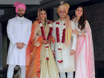 Soha Ali Khan and Kunal Khemu with Safeena