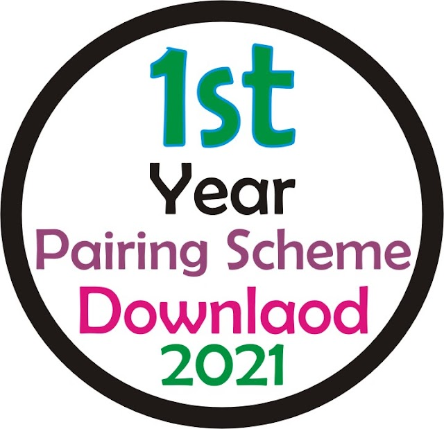 1st Year Pairing Scheme 2021 All Subject - Download PDF 11th Class Scheme of Study