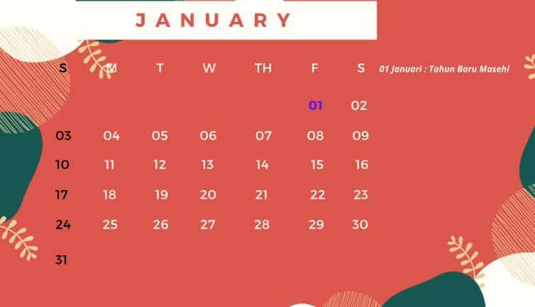 Kalender 2021 Pdf Download Lengkap Hari Libur Nasional Review Teknologi Sekarang