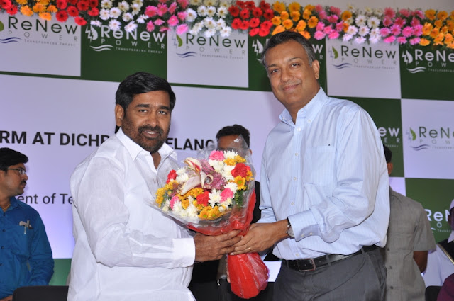 ReNew Powercommissions the largest solar farm in Telangana