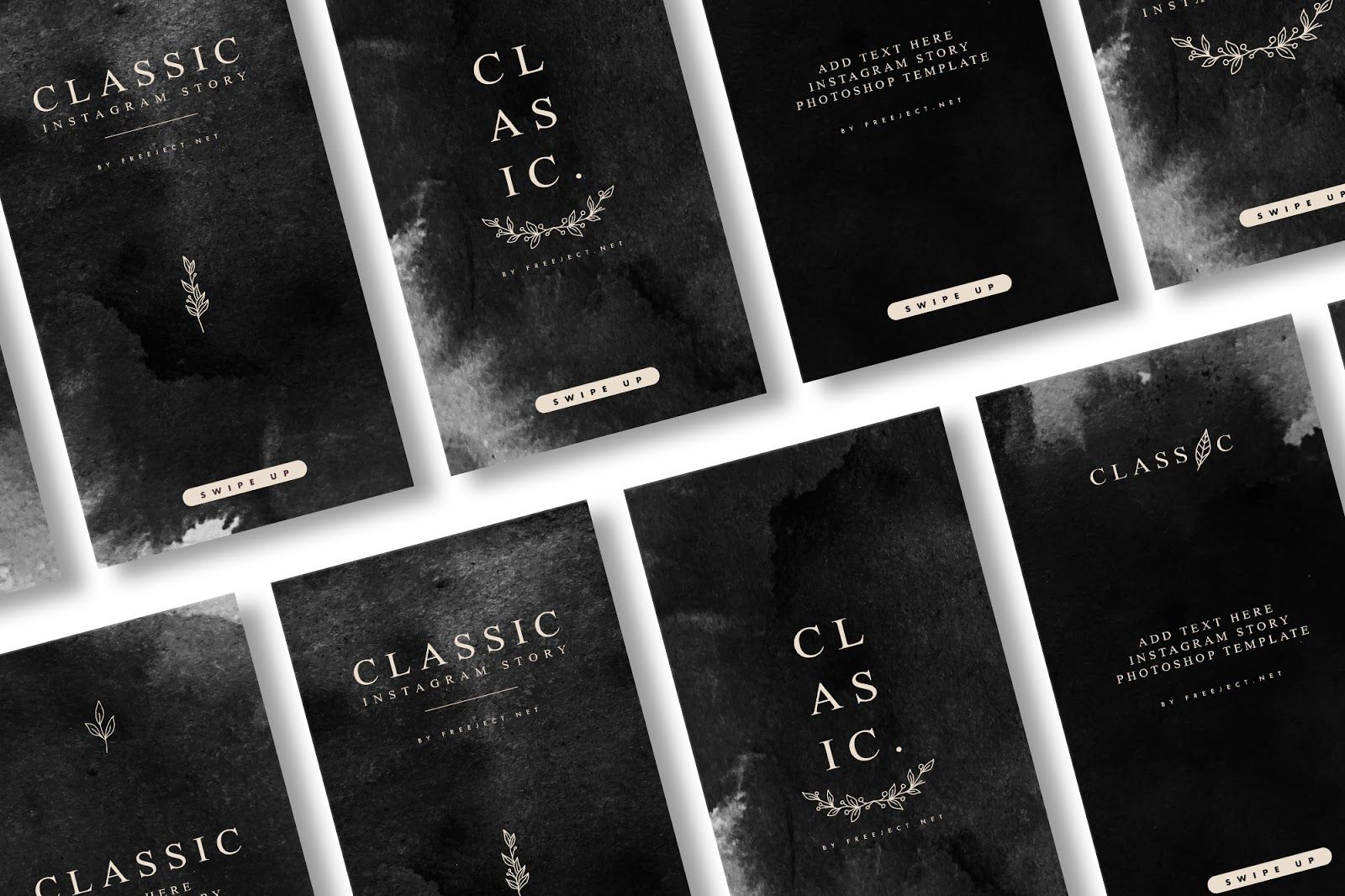 5 Classic Instagram Story Template Free Download Social Media Template Psd File