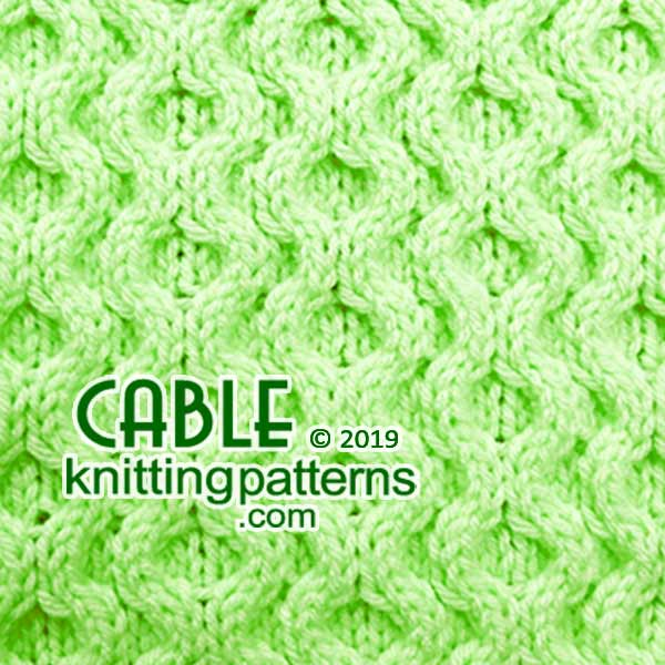 Knit Aran Stitches, Free #Knitting Pattern