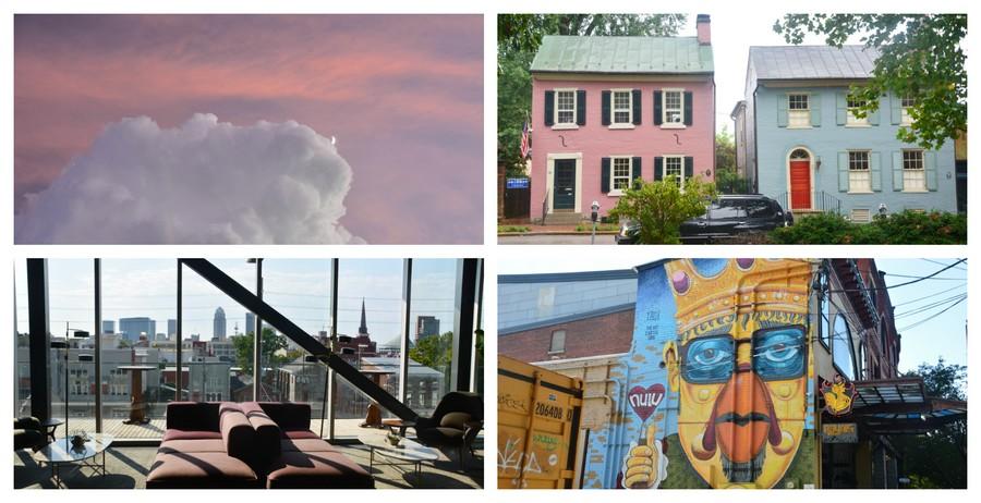 Coucher de soleil et charmes urbains Sud des Etats-Unis