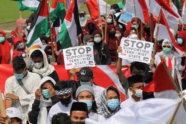 FOTO: Aksi Bela Palestina di Kedubes AS