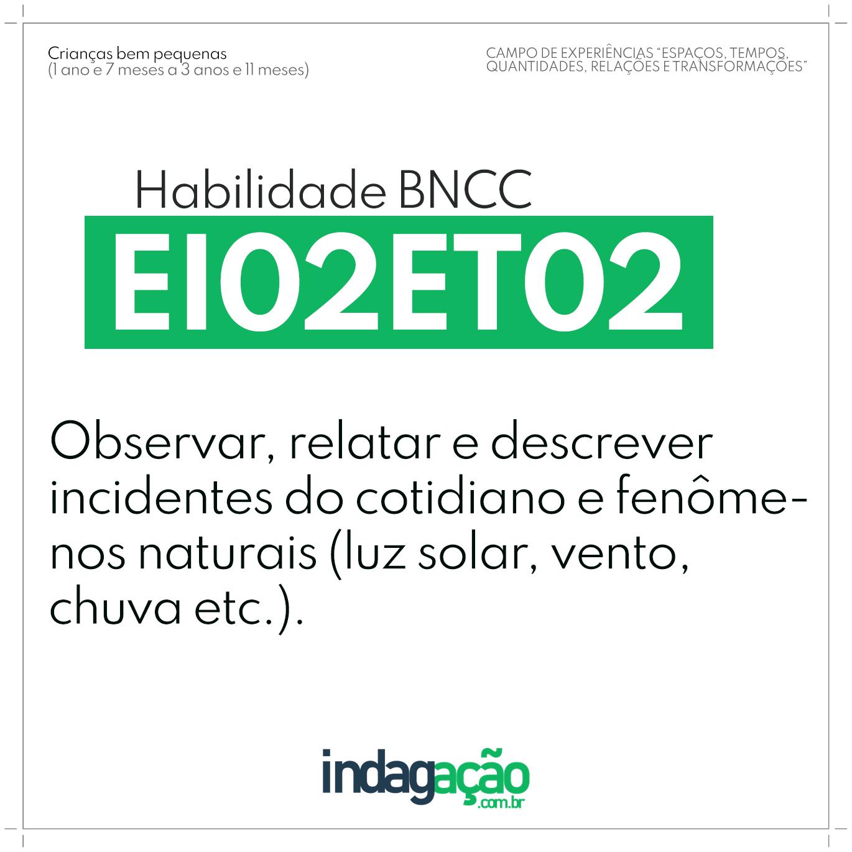 Habilidade EI02ET02 BNCC