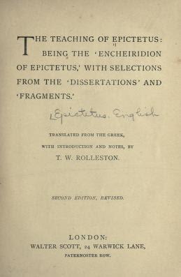 The teaching of Epictetus  1888 Free PDF book