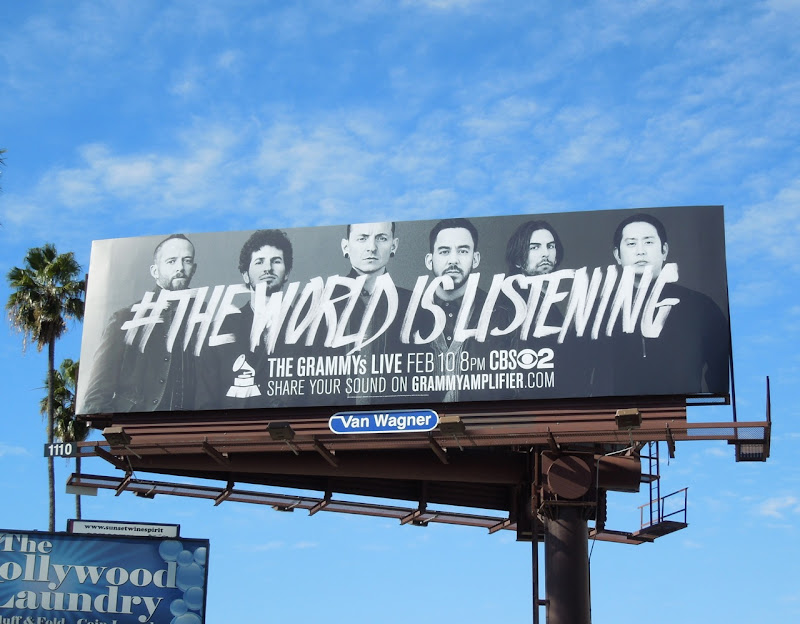 Linkin Park World Listening 55th Grammys billboard