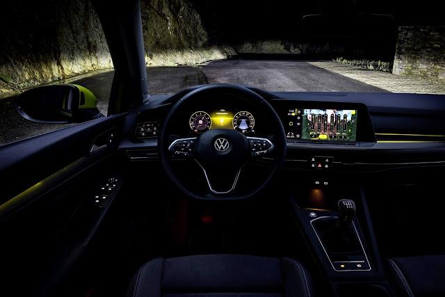 Novo VW Golf Mk8: detalhes do novo Innovision Cockpit