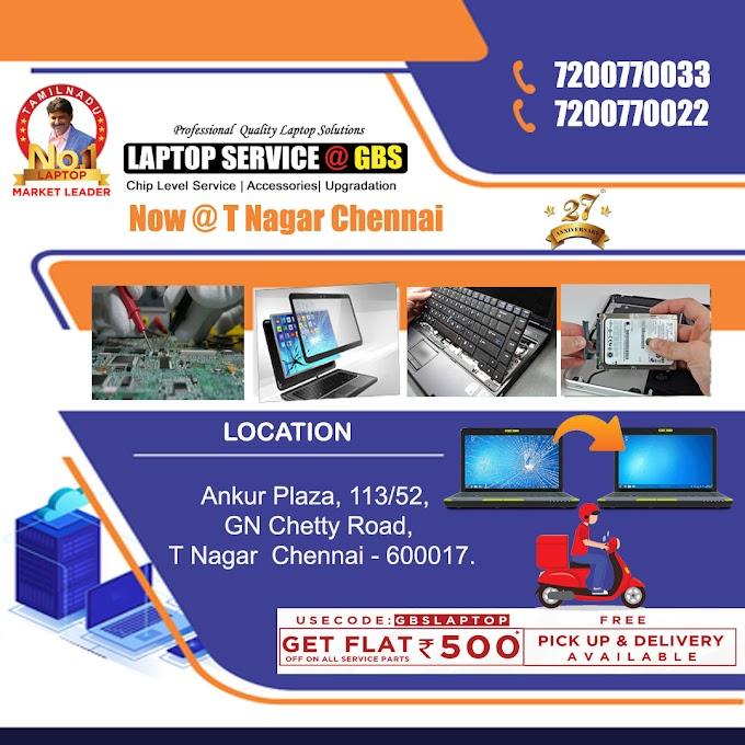 Laptop Service Center in Chennai T Nagar