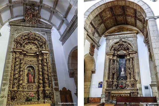 Altares laterais da Igreja de São Gonçalo, Amarante, Portugal