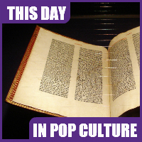 The Gutenberg Bible was completed on August 24, 1456.