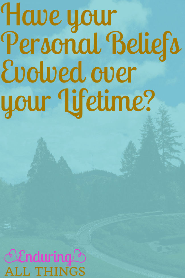 My beliefs have changed a lot as I've gotten older and matured. And I think that's a good thing. I think that's the way it should be. Here's why your beliefs should always be evolving. And here are some examples of mine.