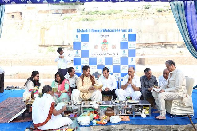 Rishabh Group organises mass pujan at its project