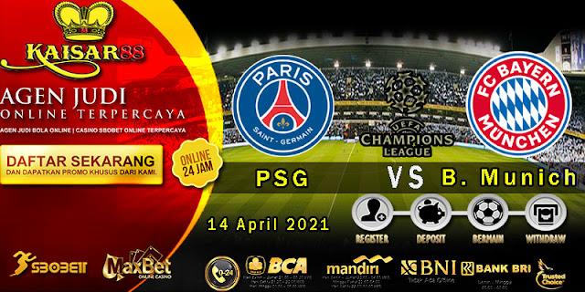 Prediksi Bola Terpercaya Liga Champions PSG vs Bayern Munich 14 April 2021
