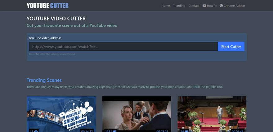 Youtube Cutter 剪輯並下載YT影片