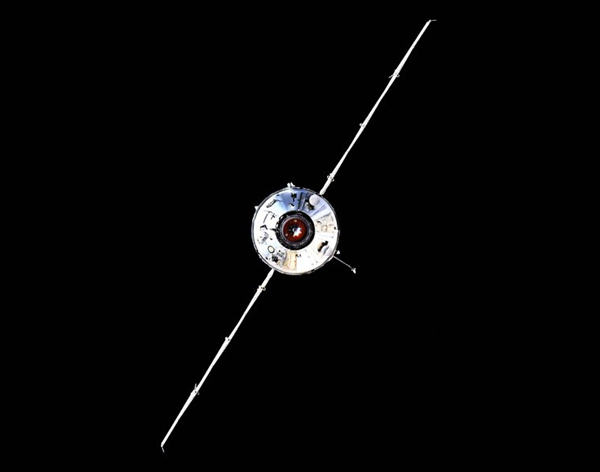 Nauka approaches Russia's Zvezda module at the International Space Station for docking...on July 29, 2021.