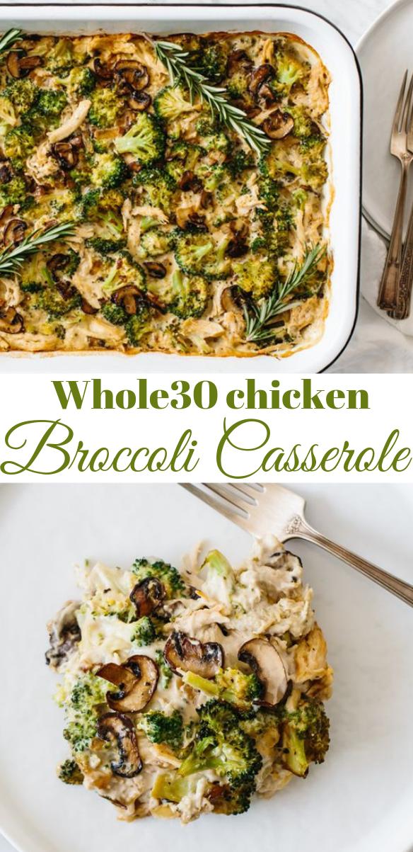 WHOLE30 CHICKEN BROCCOLI CASSEROLE  #whole30 #paleo