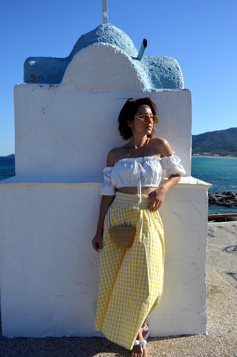 vacation outfit sarti greece