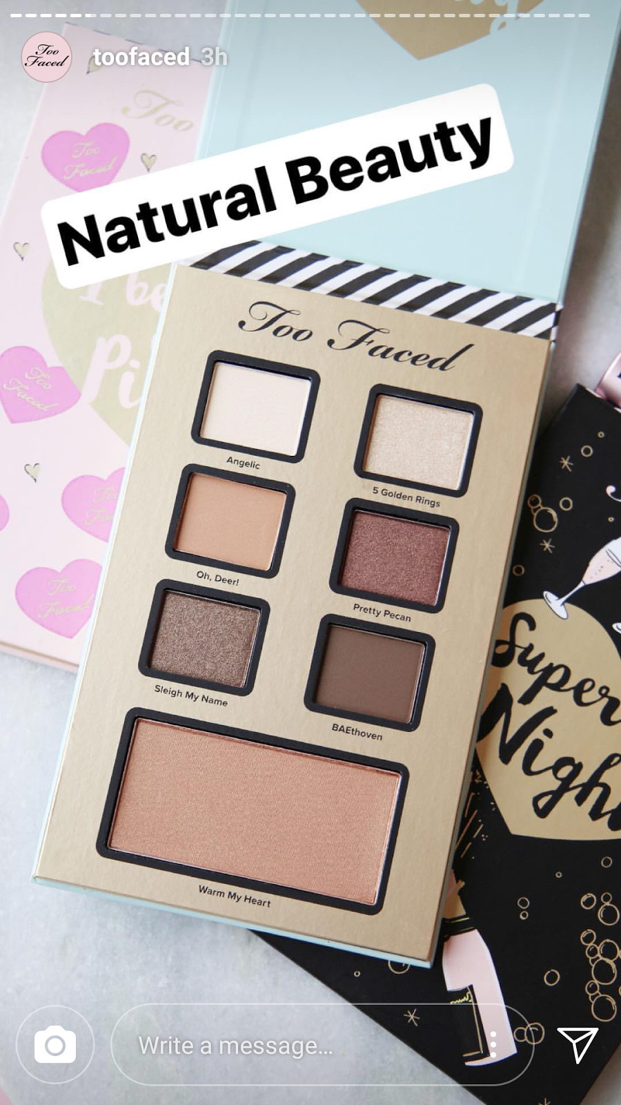 too faced best year ever makeup collection swatches natural beauty