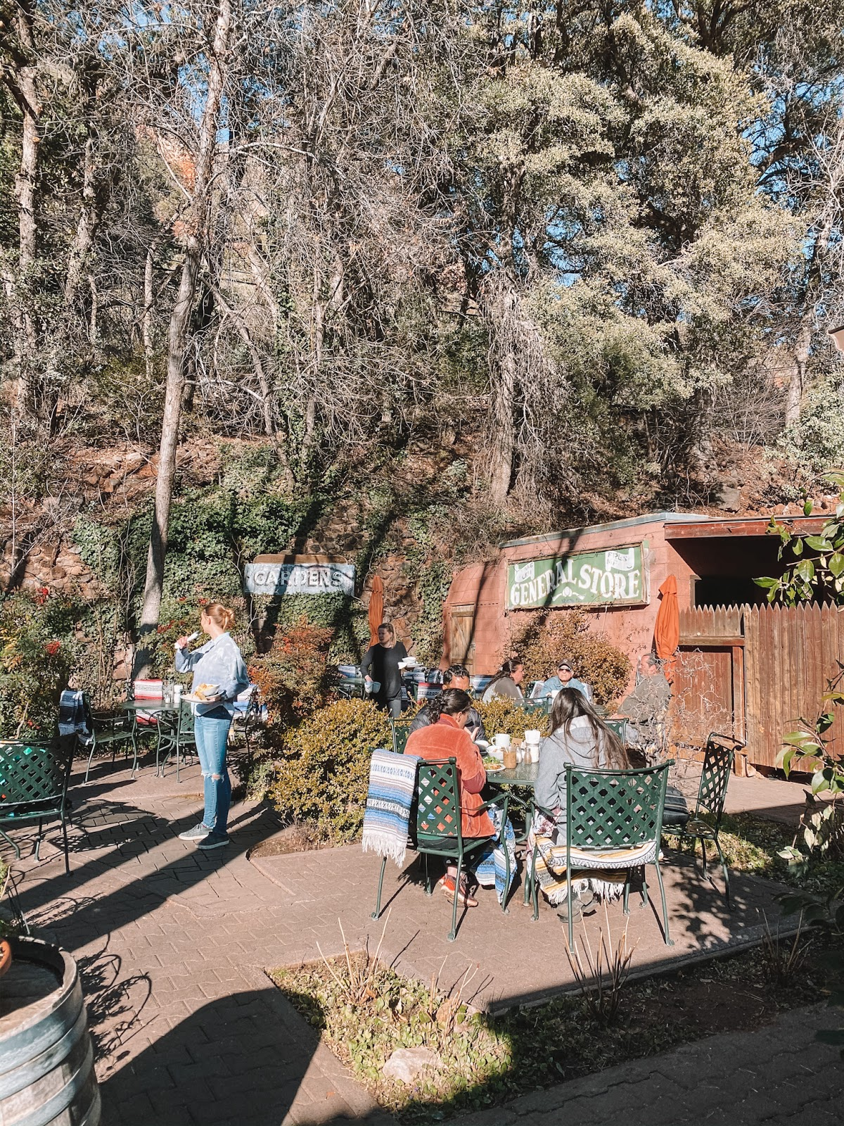 The Gardens at Indian Gardens Cafe in Sedona make for the perfect patio seating
