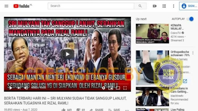 Cek Fakta: Sri Mulyani Tak Sanggup, Serahkan Tugasnya ke Rizal Ramli