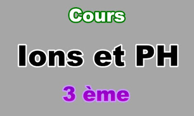 Cours d'Ions et PH 3eme en PDF
