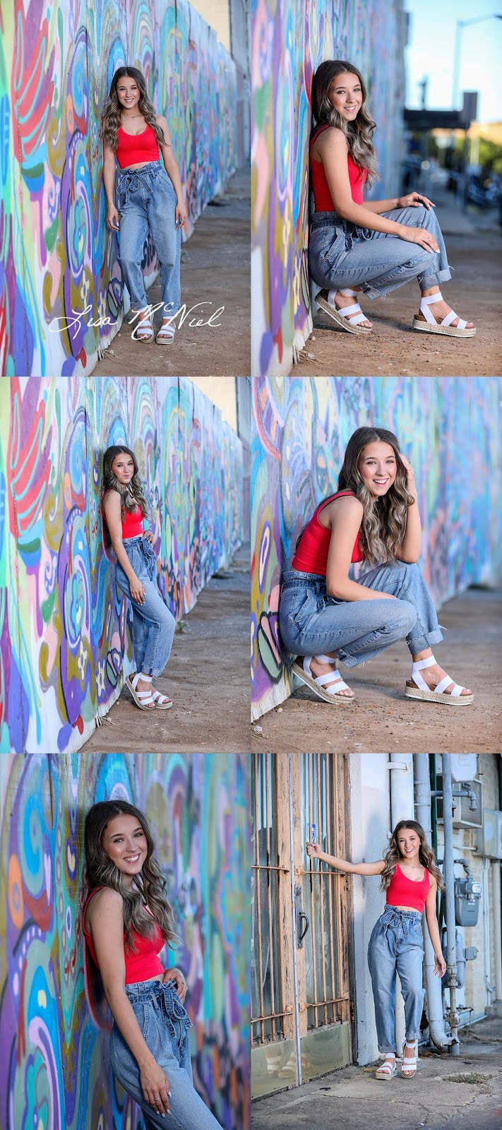teen girl in urban graffiti setting