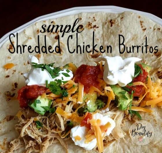 chicken burritos (in the crock pot)