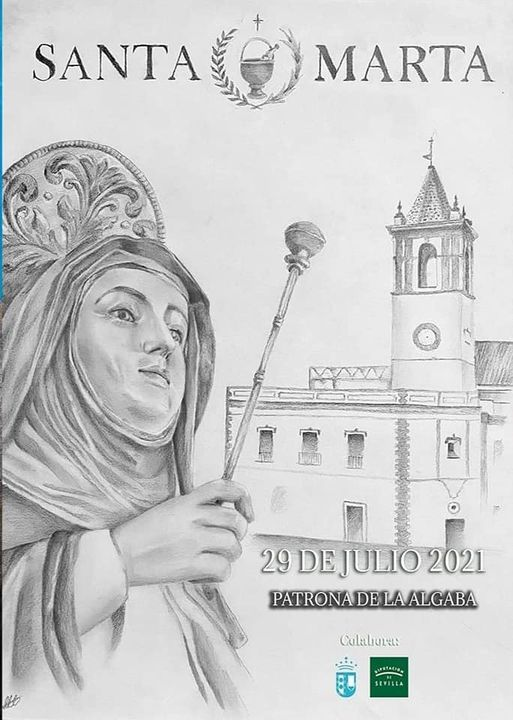 Cartel Anunciador de Santa Marta, patrona de la Algaba 2021