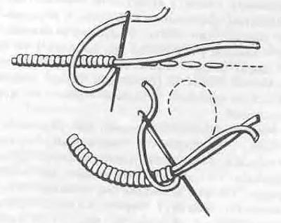 вышивка стежком шунурок