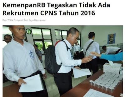 Jadwal CPNS Maret 2016 Pendaftaran