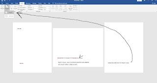 ganti orientasi menjadi potrait untuk halaman setelah diberi next page