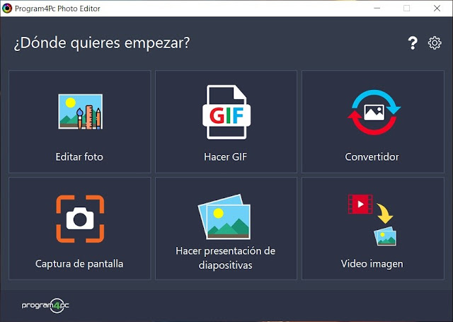 Program4Pc Photo Editor imagenes