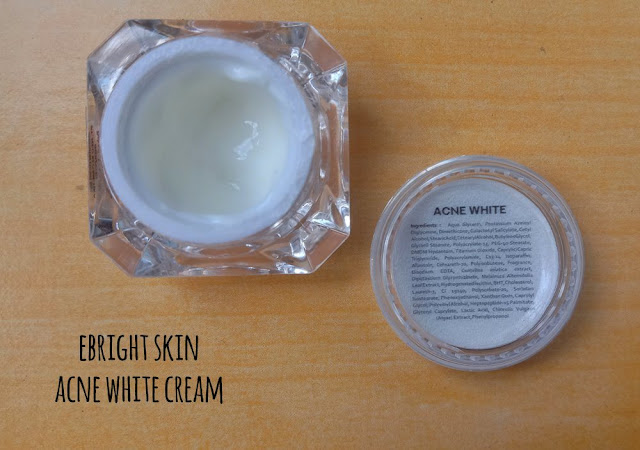 acne white cream ebright skin