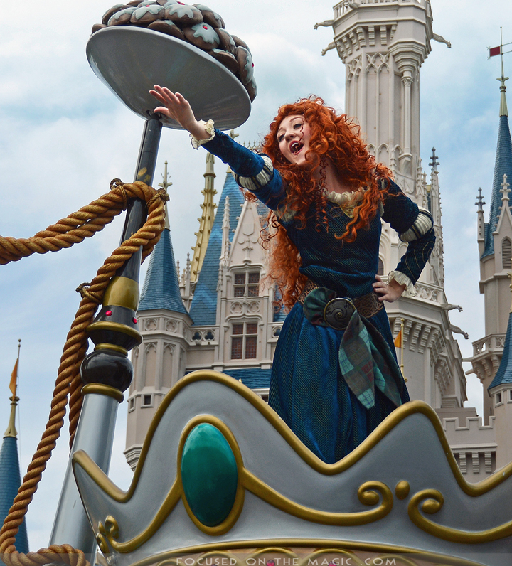 Merida in the Festival of Fantasy Parade in Walt Disney World, Florida