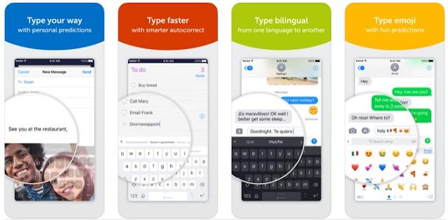 SwiftKey Keyboard أفضل لوحة مفاتيح للأيفون