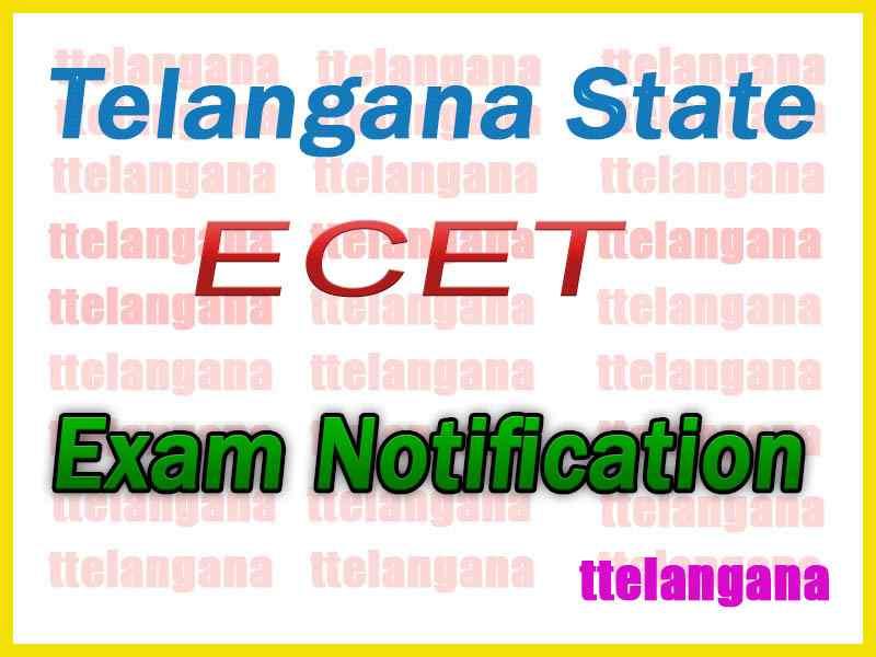 Telangana ECET TSECET  Notification