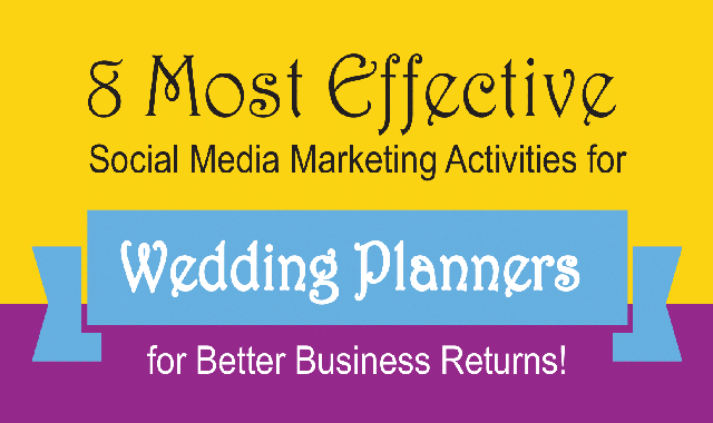 8 Most Effective Social Media Marketing Activities for Wedding Planners #infographic