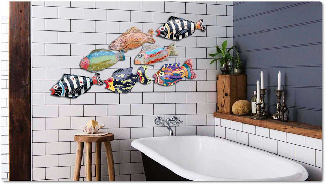 Fish decor for bathroom