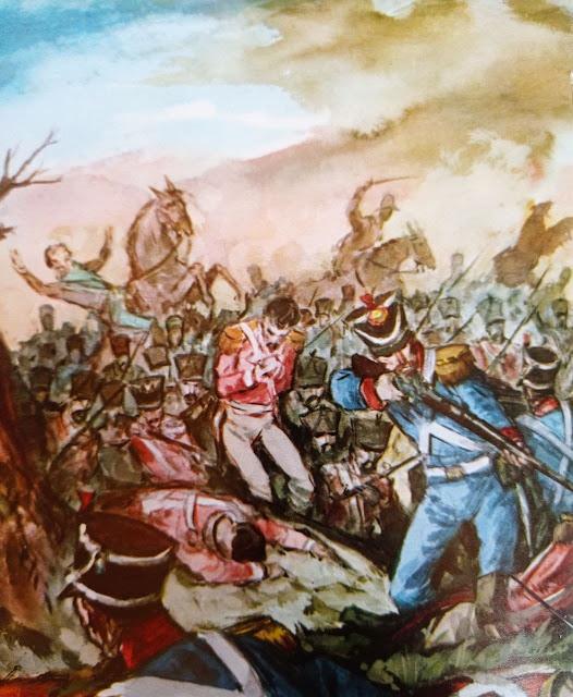 Ilustración de la Batalla de Carabobo, autor desconocido